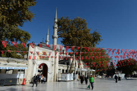 The Sultan Eyup mosque is the main Muslim Shrine in Turkey. Istanbul