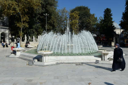 The fountain in the square to Eyüp Sultan in Istanbul. Turkey
