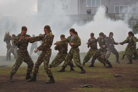 Training of Russian special forces soldiers