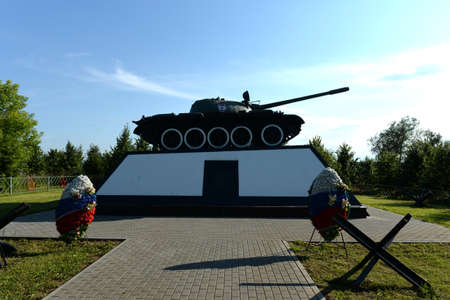 T-55 tank in honor of the feat of the tank crew of Lieutenant Pavel Gudz, who destroyed 10 tanks in battle during the defense of Moscow Editöryel