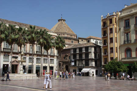 Constitution square in the Spanish seaside city of Malaga Editöryel