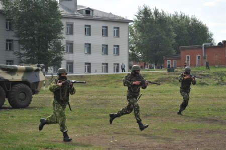 Working out the training battle of Russian special forces soldiers Editöryel