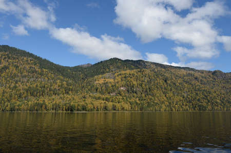 Autumn on Lake Teletskoye. Altai Republic. Western Siberia