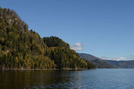 Autumn on Lake Teletskoye. Altai Republic. Western Siberia