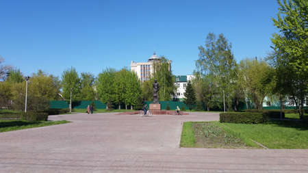 Freedom Square in the old part of Barnaul Editorial