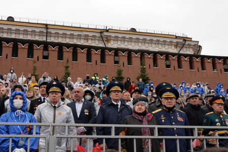 Veterans on Moscow's Red Square during the celebration of the 76th anniversary of the Victory Sajtókép