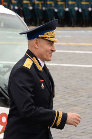 Hero of the Russian Federation, Lieutenant General Sergei Dyachenko on Moscow's Red Square on Victory Day Sajtókép