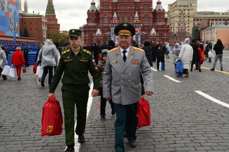 Colonel-General Alexander Skorodumov on Moscow's Red Square during the celebration of the 76th anniversary of the Victory