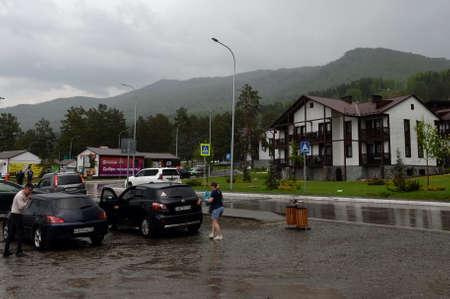 Rain at the all-season resort