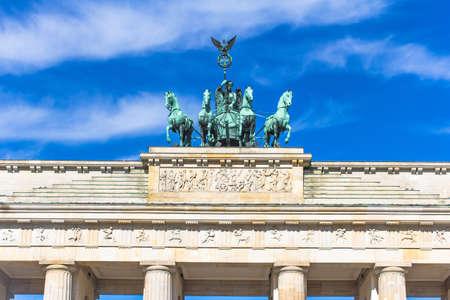 quadriga: Quadriga of the Brandenburg Gate. Berlin, Germany