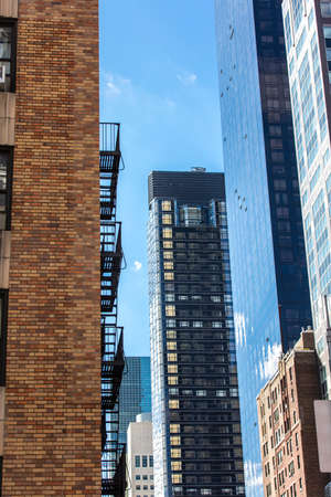 newyork: Colorful skyscrappers in New York, USA