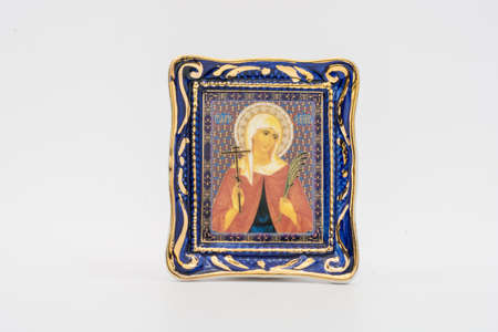 martyr: The thumbnail icon of the Holy Martyr Valentina made in ceramics. Editorial