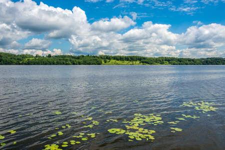volga: Summer Volga landscape on a Sunny day