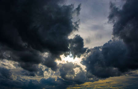 disturbing: Beautiful disturbing cloudy sky in Sunny direct sunlight.