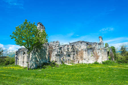 princely: The ruins of the ancient princely Palace X century in the village of Lykhny, Abkhazia. Stock Photo