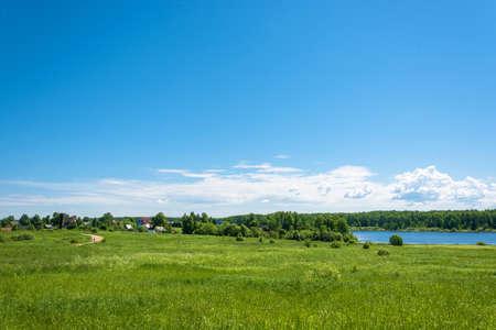 Beautiful summer landscape in the Central part of Russia. The village of Baglaeva, Ivanovo oblast.
