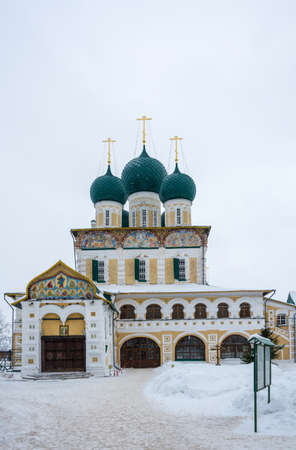 Resurrection Cathedral on a winter day in the city of Tutaev, Yaroslavl region, Russia.