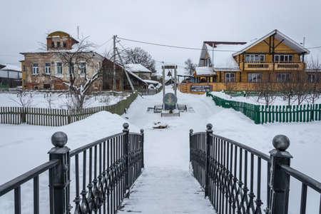 Vyatskoye Village, Yaroslavl Region, Russia - February 17, 2018: The Holy Source of the Icon of the Mother of God Редакционное