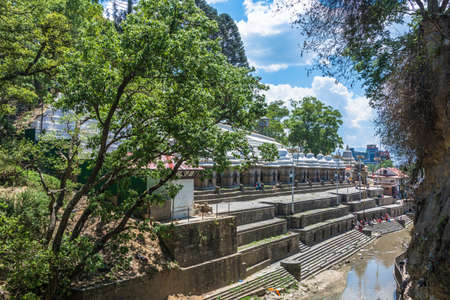 The Bagmati river in the  complex Pashupatinath Temple on a Sunny day, Nepal. Stock Photo - 106570607
