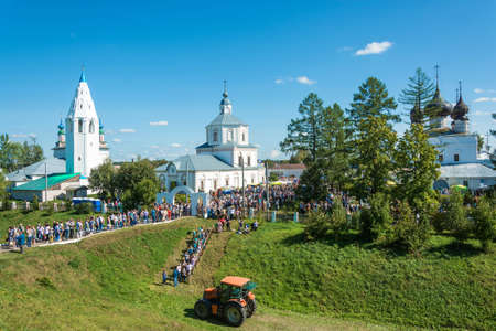 Luh, Ivanovo region, Russia - 08252018: At the regional festival-fair Luk-luchok August 25, 2018 in the city of Luh, Ivanovo region, Russia.