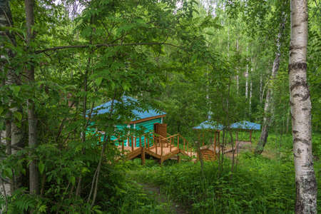 The Holy Well of St. Macarius Pisemsky on the Letter, Buysky District, Kostroma Region, Russia. Stock fotó