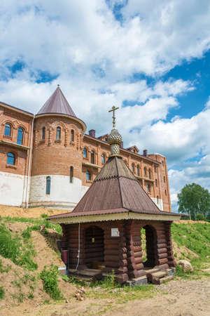 Holy source of St. Sergius of Radonezh, Anthony and Theodosius of the Caves, Solba, Pereslavl district, Yaroslavl region, Russia. Фото со стока