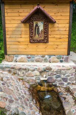 The Holy Spring of St. Macarius near the village of Karavaitsevo, Uglich District, Yaroslavl Region, Russia. Фото со стока