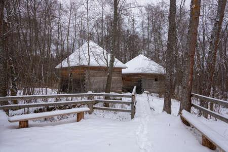 Sacred spring in Zaozerie, Uglich district, Yaroslavl region, Russia.