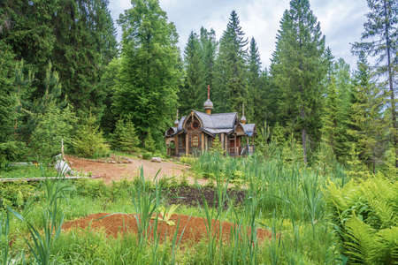 Holy spring of St. Irinarch the Recluse, Borisoglebsky District, Yaroslavl Region, Russia.