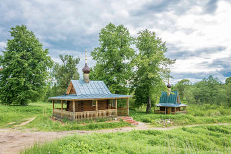 The Holy Spring of St. Nicholas the Wonderworker near Chugukovo, Uglichsky District, Yaroslavl Region, Russia. Фото со стока