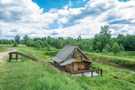 Holy source of St. Sergius of Radons, Anthony and Theodosius of the Caves, Solba, Pereslavl district, Yaroslavl region, Russia.