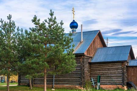 Sacred source Svyatogennadievsky in the village of Sloboda, Lyubimsky district, Yaroslavsky district, Russia.