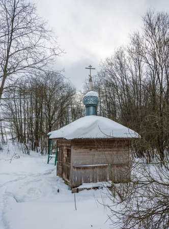 The Holy Spring of the Savior on the Kovat River, Tutaevsky District, Yaroslavl Region, Russia. Фото со стока