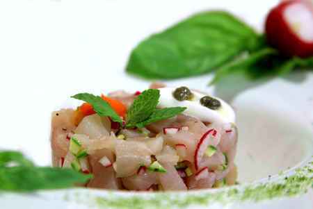 Typical dishes of Italian haute cuisine Stok Fotoğraf