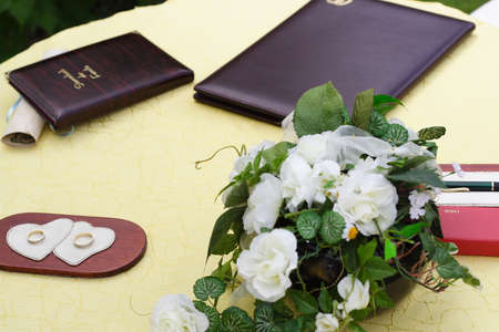 Wedding table Zdjęcie Seryjne