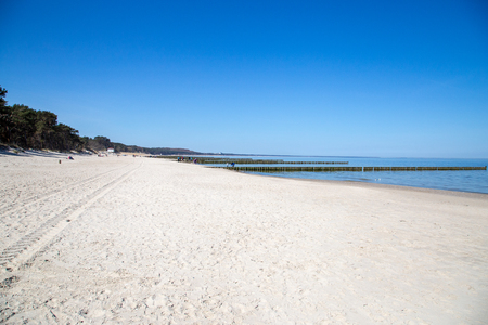 View on the Baltic sea at the wonderful beach of Zempin on the island of Usedom