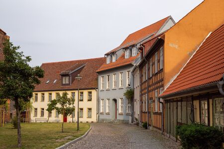 The old streets of Wolgast with many old houses