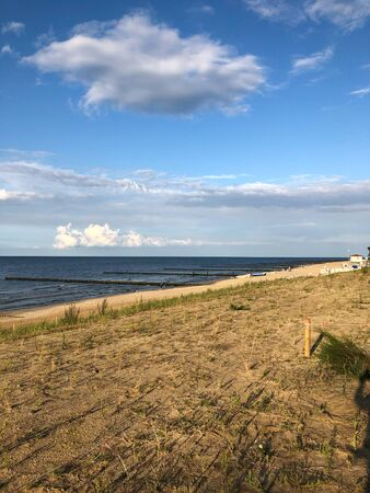The beach of Zempin on the island of Usedom on a beautiful day with blue sky Reklamní fotografie