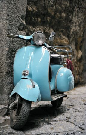 moped: Classic Italian scooter Stock Photo