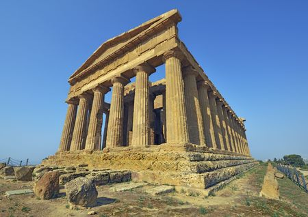 agrigento: Temple of Concord, Agrigento, Sicily, Italy Stock Photo