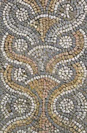 romano: Teselaci�n de piso de mosaico desde el antiguo sitio de Afrodisias en Turqu�a