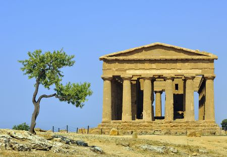 agrigento: Temple of Concord, Agrigento, Sicily,  Italy