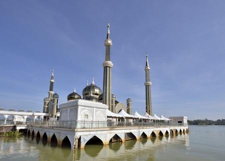 terengganu: Crystal mosque at Terengganu, Malyaysia Stock Photo