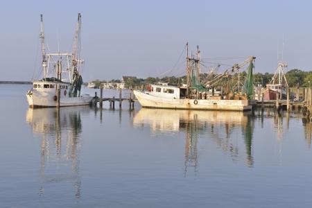 shrimp boat: Shrimp boats on the Dickinson Bayou, Texas, USA