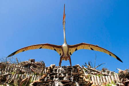 Sculpture of dinosaur   pterosaurs , archosaurs in live size