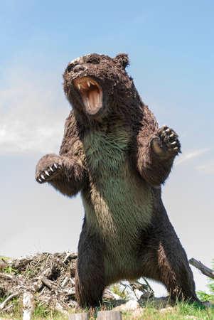 Model of prehistoric wild bear  Stock Photo