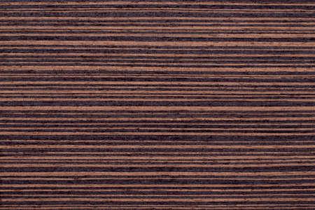 Texture of brown wenge veneer Stock Photo