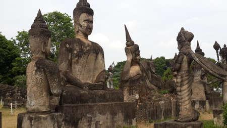 credo: Buddhas place in Vientiane, Laos Stock Photo