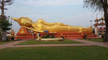 credo: Big buddha in Vientiane Stock Photo