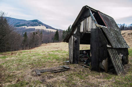 nowhere: Old,ruined house in the middle of nowhere